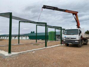 Ampliación pasillo construcción nave avícola en Tolvasa (Casas Ibáñez)