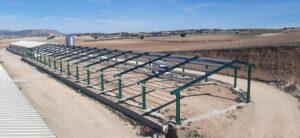 Estructura de una granja avícola en Topares (Almería)
